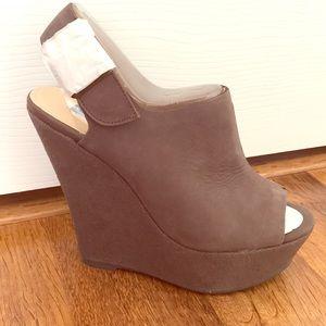 Shoemint gray wedge sandals